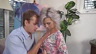 Hot MILF enjoys a young cock