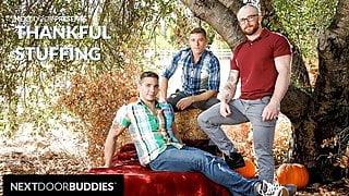 NextDoorBuddies -  Markie More & Justin Matthews Stuff Each