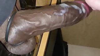 White Guy Sucking BBC at Gloryhole