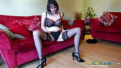 EuropeMaturE Horny Old Woman Solo Striptease