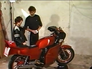 Buy vintage circle track motorcycle Motorcycle couple fuck in garage retro - 80s