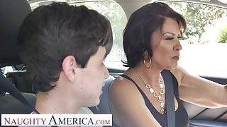 Naughty America - Mrs. Fuller (Vanessa Videl) teaches Juan how