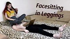 Girl In Spandex Leggings - Facesitting and Ass Grinding