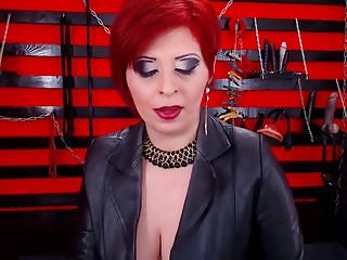 Milf smoking vids - Seductive red head dom milf smoking on cam in boots