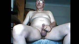 Step Dad cam wanking and spunking