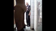 caught public toilet jerking