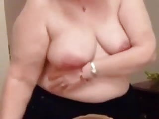 Mature fats free Clairs tits set free