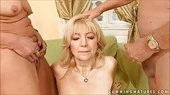 Mature granny pissing compilation