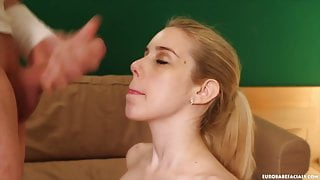 Hot slut gets rocked by this monster facial