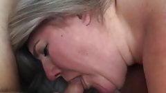 MILF wife sucking a cock