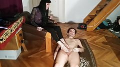 Foot worship play job stomping sniffing by slave pt1