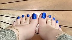 My Blue Toes.