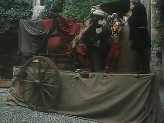 All natural redhead milfs Medieval queen jerks him all the way to heaven in public.