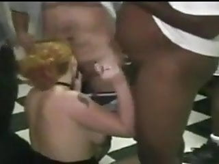 Wife fucked by other guys - Mature woman fucked by black guy while others participate