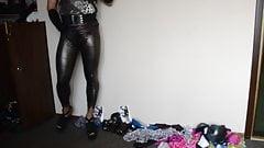 pantyhose and panther leggings