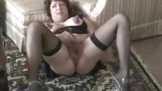 Pervert granny masturbating