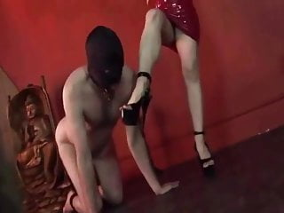 Naked male taint Naked male slave reward is to worship feet of domme