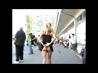 Model no nudity teen Cute model flashing in streets bvr