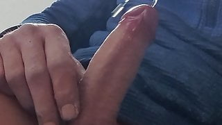 Piss and cum at work