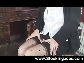Mature tits tease videos Busty milf teasing in the office