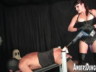 Naked male celebirties Mistress lux anal dilling, strap-on and milking of male pig