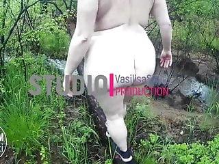 Fat girl naked Naked fat girl in the woods vasilisa