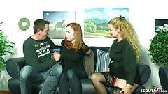 GERMAN MATURE TEACH HAIRY GINGER TEEN AND BOYFRIEND TO FUCK