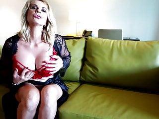 Rox ultralights rim strips Australian blonde milf sammi rox toying her pussy