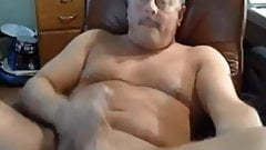 Hot daddy jerking off