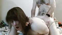 Shanky wife gets fucked doggy style