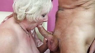 Blonde Mature gets a good Fucking