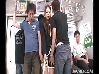 Nude mims - A group of horny subway passengers take control of china mim