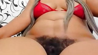 Mature milf with a very hairy cunt, amateur