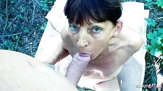 79yr OLD GRANDMA DOES OUTDOOR TALK AND POV FUCK WITH STEP GRANDSON