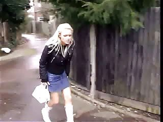 Pee panty gallery Hot blonde upskirt in black panties peeing in public street