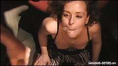 Blonde amateur wife creamed by over 20 men