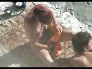 Hot tan nudes Nude beach - tan line redhead suck fuck