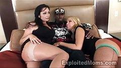 2 Big Booty Milfs enjoy Black Cock in Threesome Video