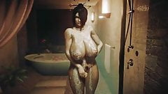 Shower with Lulu from Final Fantasy by Urbanator