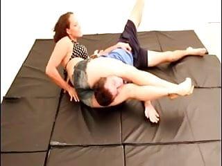Teen girl crush - Tough girl crushes her opponent