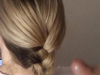 Braided hair nude Hair cum - cumshot in blonde braided hair