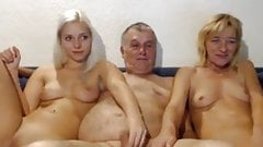 mature couple and young masturbate on webcam
