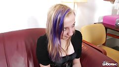 FakeShooting - Blue hair teen has no idea what is happening