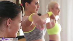FitnessRooms Young teens fuck gym teacher's big cock
