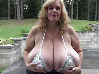 Huge boob photo Granny huge boob joi