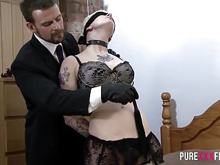 Fetish tube spanking - Sexy fetish bondage couple