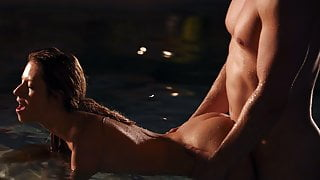 Amazing private spa sex video