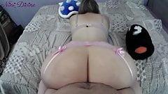 Super Mario fuck the big ass of Princess Peach in pov video!