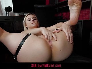 Cock fuck her movie throat Stepsister models leather to fuck her bro