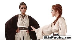 Jedi Skin Diamond teaches new recruit Penny Pax the force